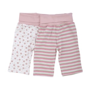 ROLLED WAIST PANT PINK STRIPE Organic Cotton